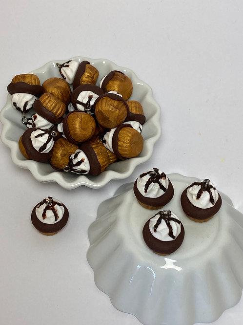 Breloque  Cupcake chocolat