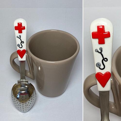 Cuillère à thé thème infirmière