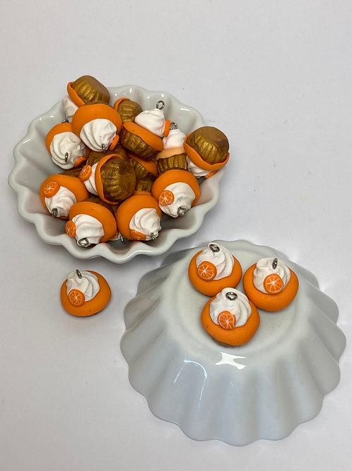 Breloque  Cupcake orange