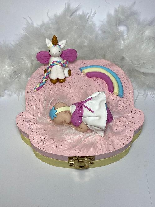 Boîte à dent «ma petite licorne pastel»