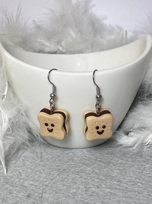 Boucles d'oreilles Choco souriant chocolat