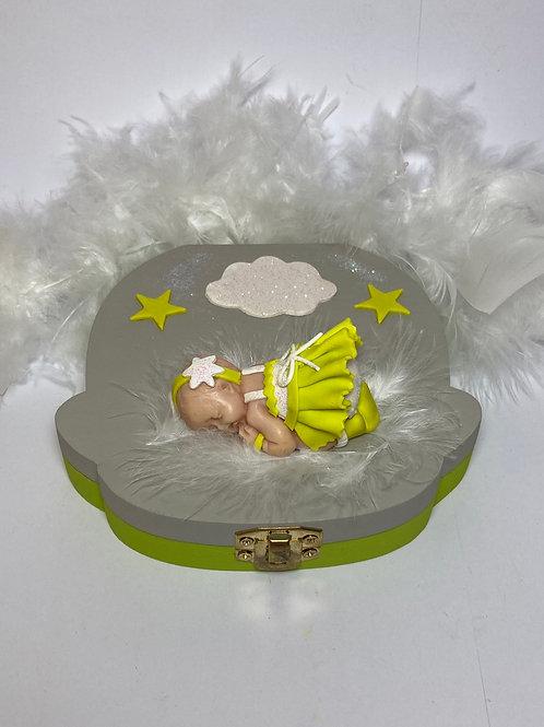 Boîte à  dent  petite princesse vert anis