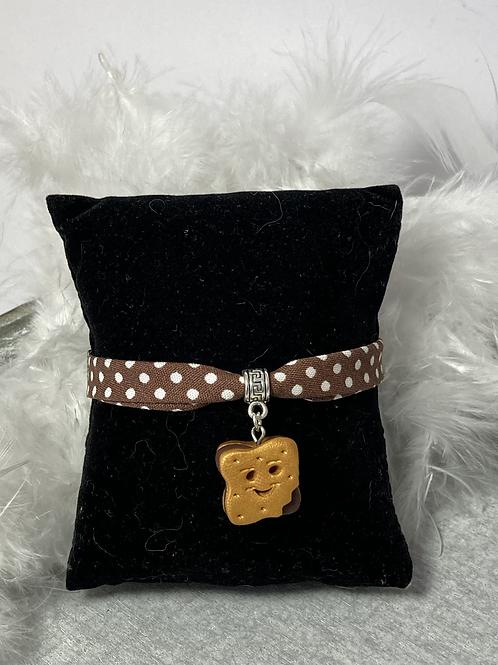 Bracelet  biscuit sourire chocolat