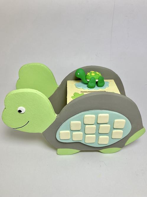 Tirelire tortue vert pastel