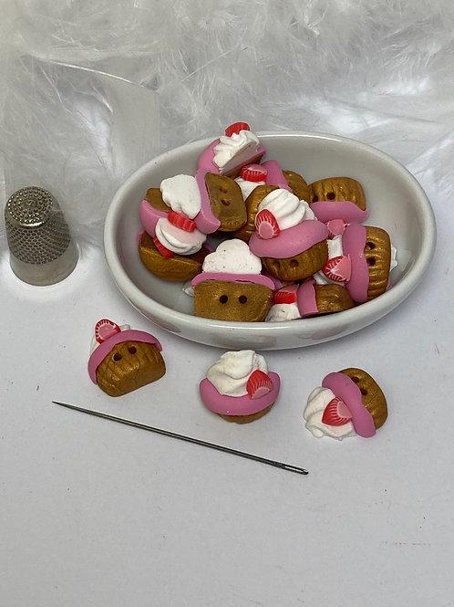 Bouton  Cupcake  fraise