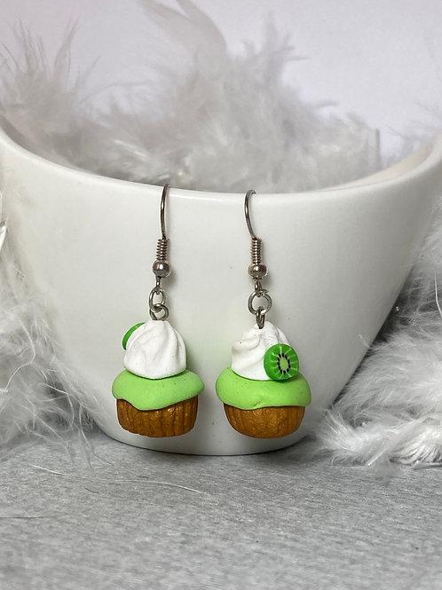 Boucles d'oreilles  Cupcake kiwi