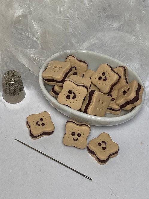 Bouton Choco souriant chocolat