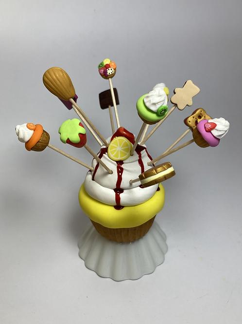 Présentoir  Cupcake citron
