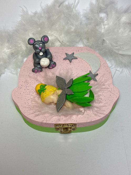 Boîte à dent  «petite fée  et souris»