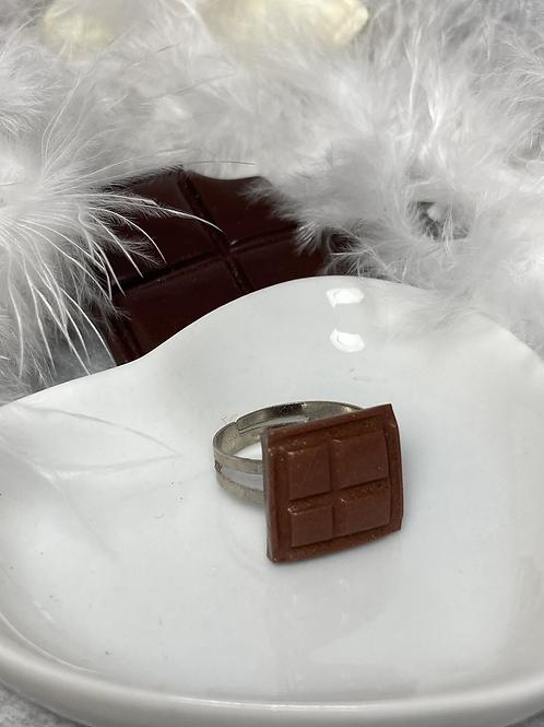 Bague carré de chocolat