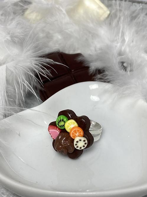Bague  fruits et chocolat