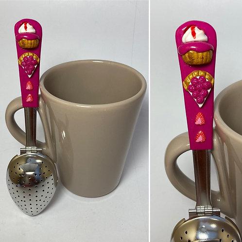 Cuillère à thé rose foncé