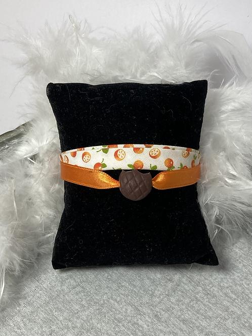 Bracelet biscuit fourré orange
