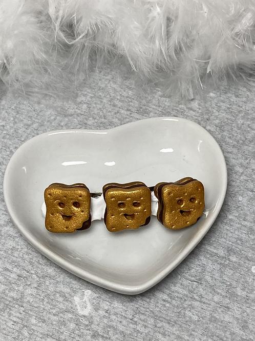 Barrette PM biscuit sourire chocolat