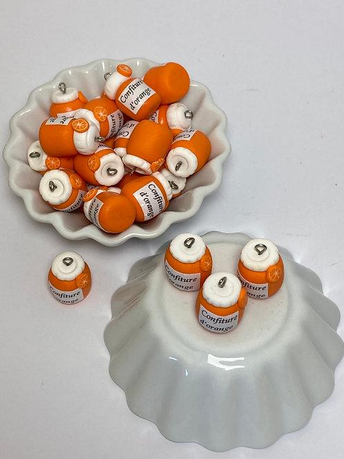 Breloque   pot confiture d orange