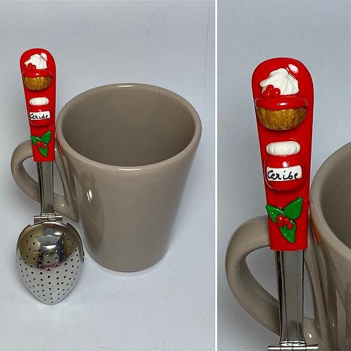 Cuillère à  thé rouge cerise