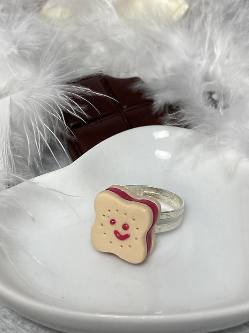 Bague  Choco souriant fraise