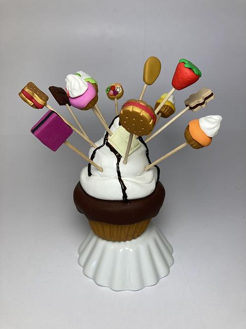 Présentoir  Cupcake  chocolat