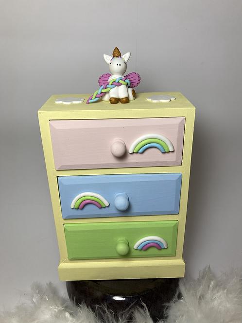 Boîte à bijoux  licorne pastel