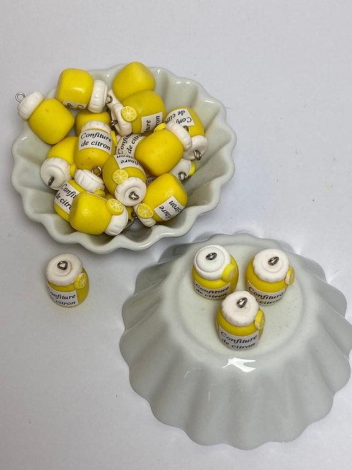 Breloque  Pot de confiture de citron