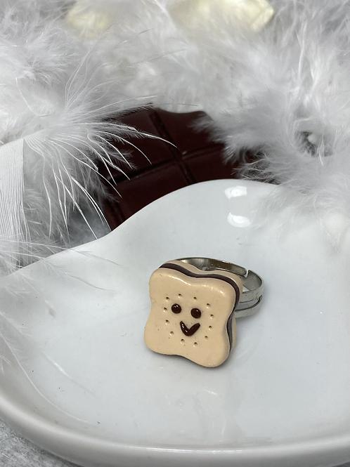 Bague  Choco souriant chocolat