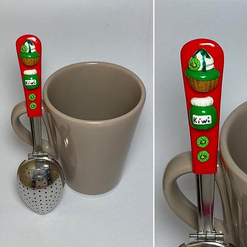 Cuillère à thé  rouge - kiwi
