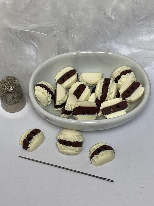 Bouton  Macaron  vanille
