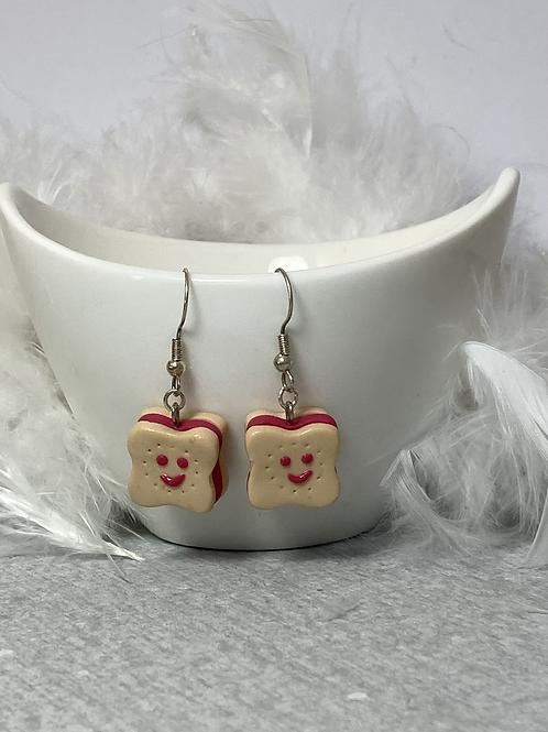 Boucles d'oreilles  Choco souriant fraise
