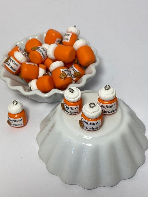 Breloque  Pot de confiture d abricot