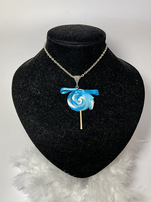 Collier sucette  turquoise