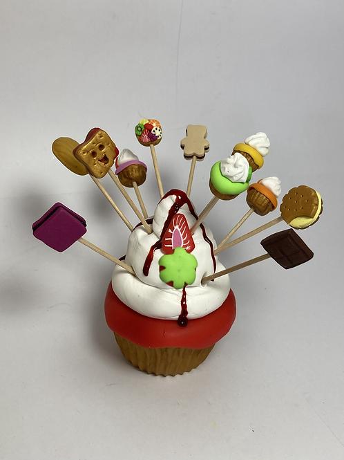 Présentoir  Cupcake rouge