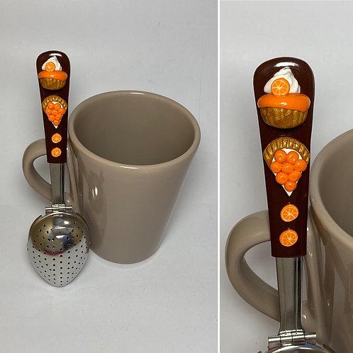 Cuillère à thé marron -orange