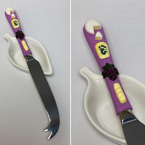 Couteau  à fromage  violet clair