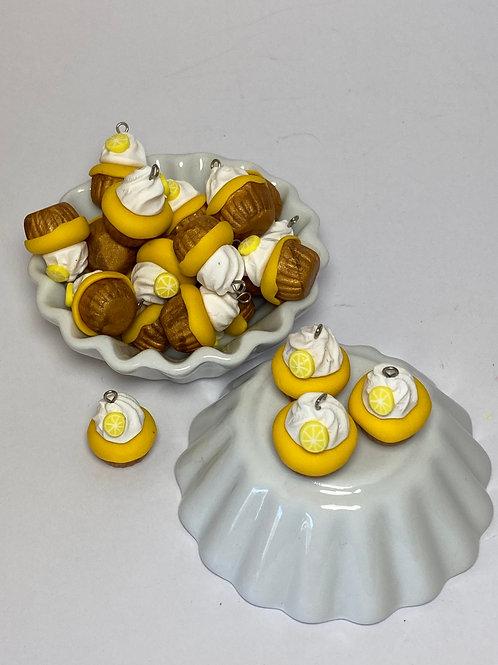 Breloque  Cupcake citron