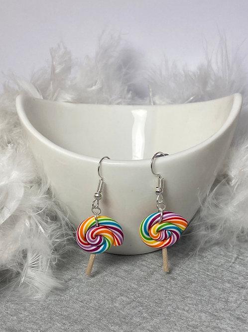 Boucles d'oreilles sucette lollipop