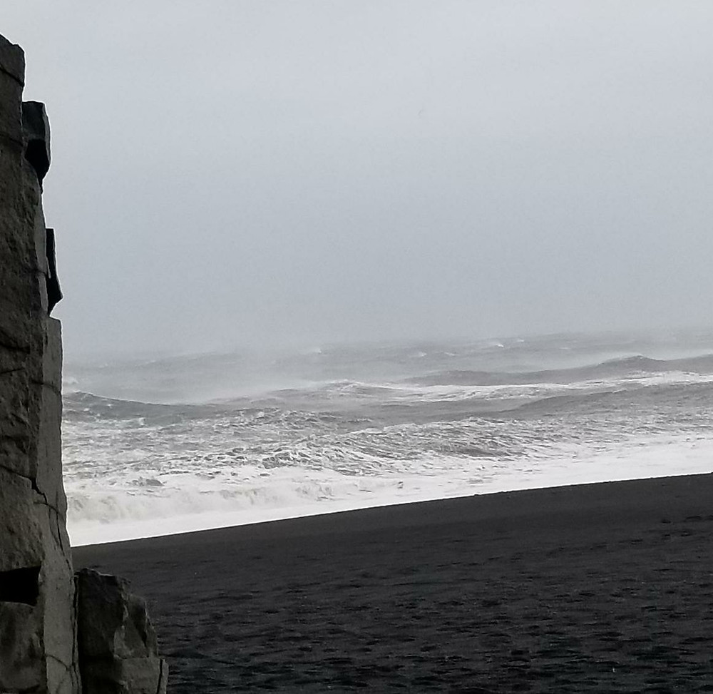 Figure 1: Reynisfjara Beach; photo credit to Travis Leever.