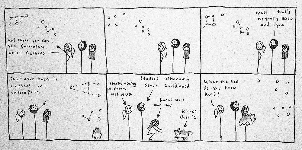 Figure 7: Comic of childhood, Arin Underwood.