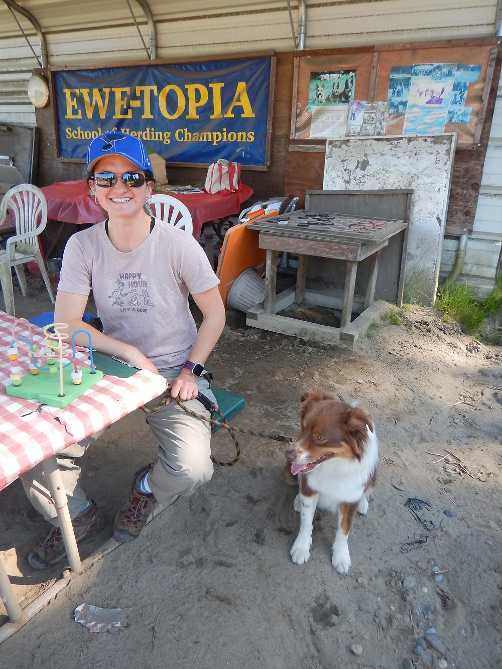 Figure 2: Myself and Zen at Ewetopia.