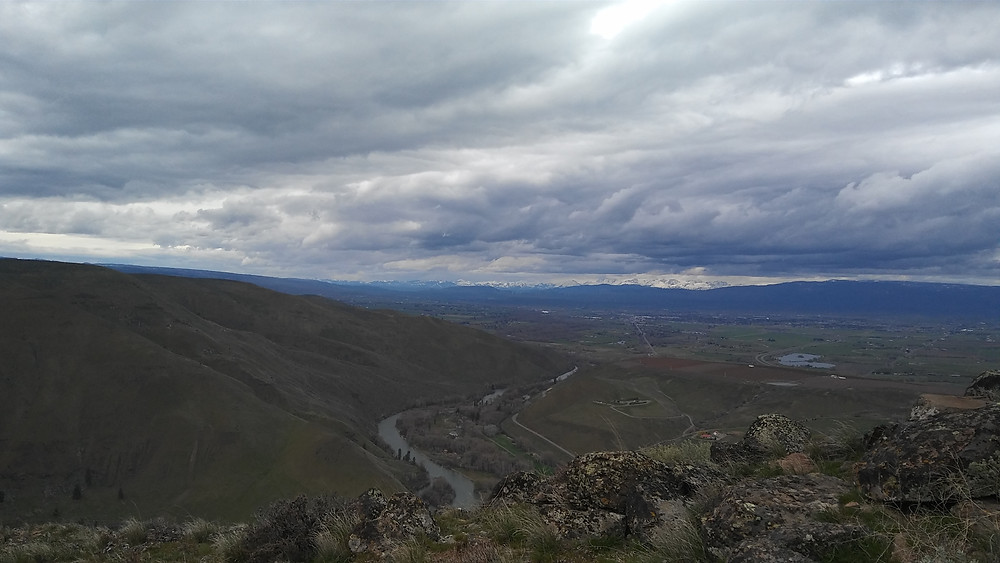 Figure 4: View of northwestern Yakima River Canyon from the top of Rattlesnake Dance Trail.