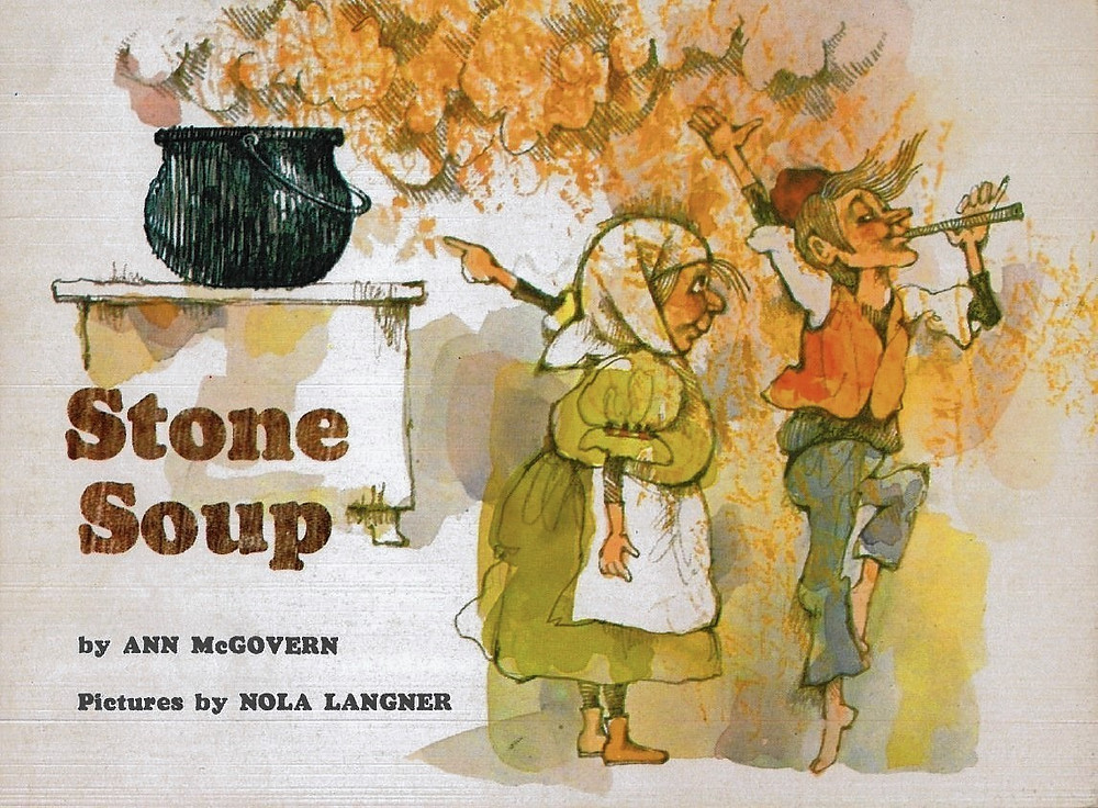 Figure 2: The actual cover of the Stone Soup children's book I grew up with.