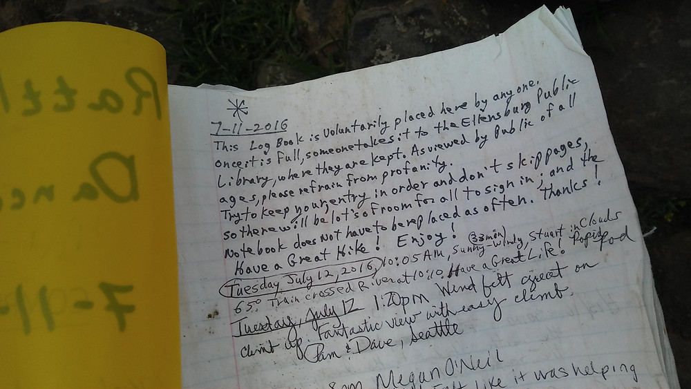 Figure 6: Introductory page of Rattlesnake Dance Trail Log Book.