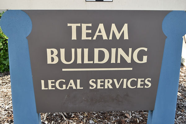 Team Building Sign
