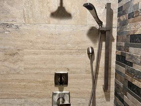 Oh the Luxury of a Custom Shower