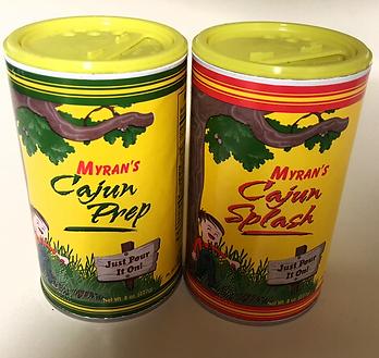 Myran's Cajun Seasoning splash prep spices blend