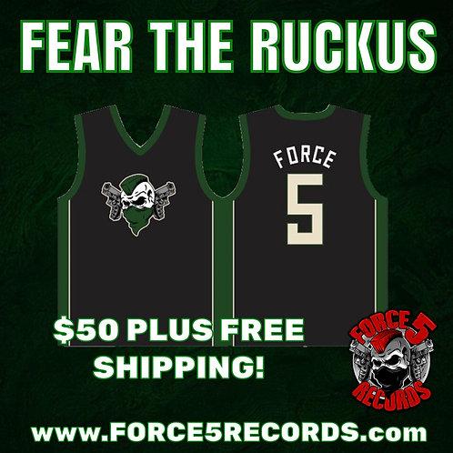 """""""FEAR THE RUCKUS"""" F5 B-Ball Jersey"""