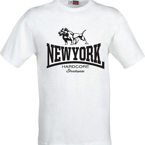 New York Hardcore Streetwear - Pitbull t shirt (WHITE)