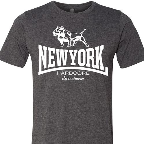 New York Hardcore Streetwear-Pitbull t shirt (Grey)