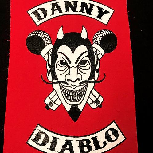 "Danny Diablo-Devil logo 18"" by 12"" Patch"