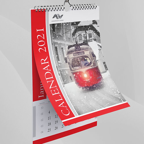 Calendar Red & Grey - 72