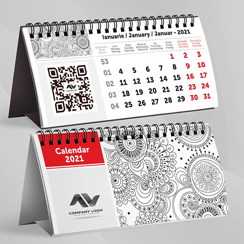 Calendar Cod QR - 25